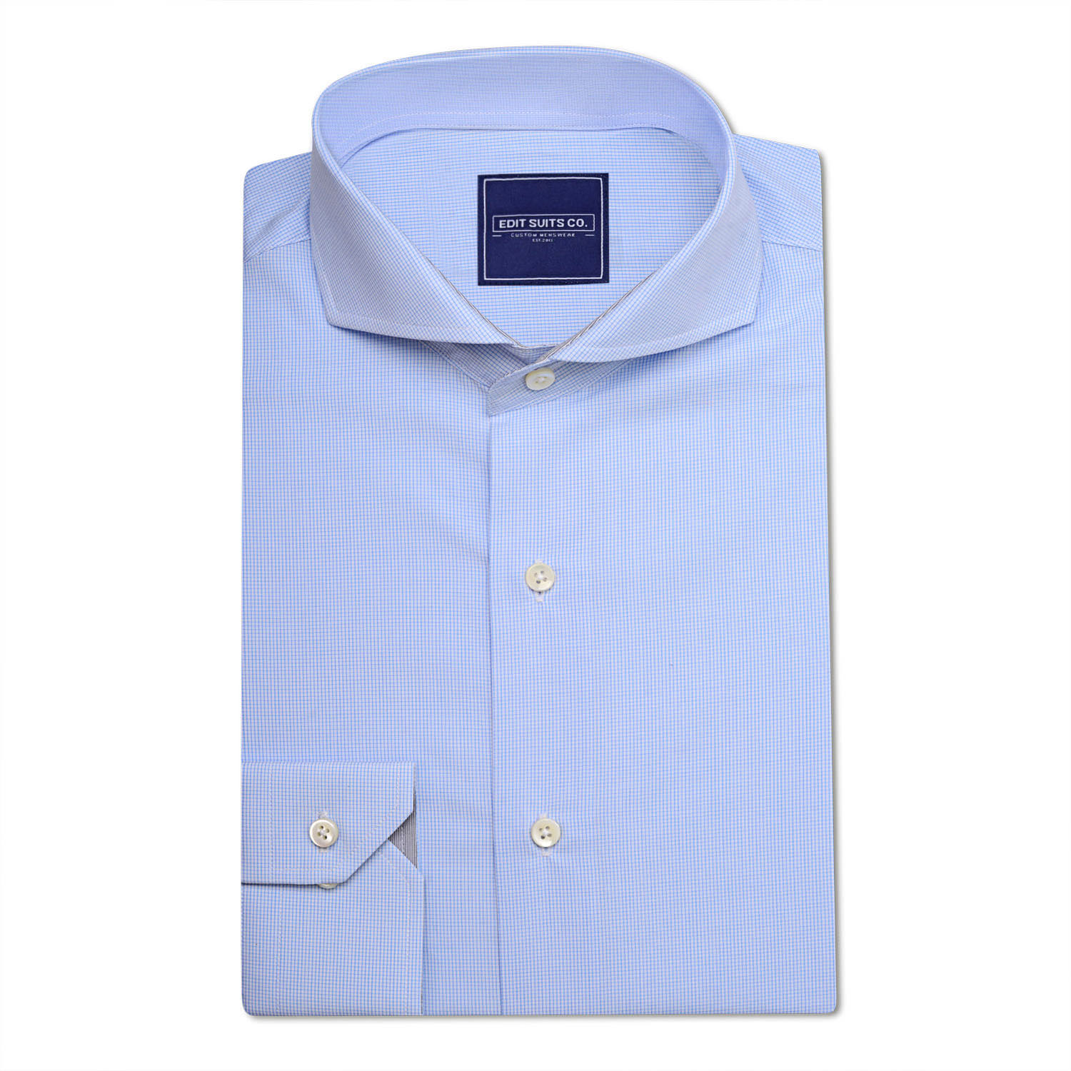 Blue pinpoint oxford