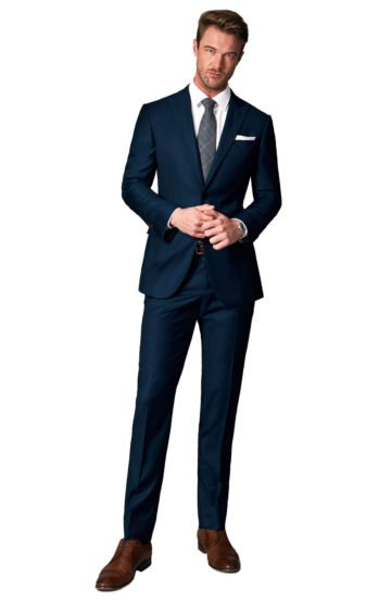 Navy Blue Twill Suit