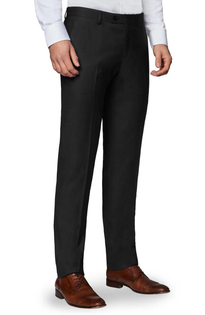 black wide leg trouser for men