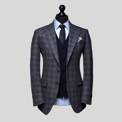 made to measure suit with waistcoat