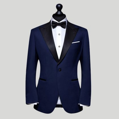 navy blue tuxedo wedding suit