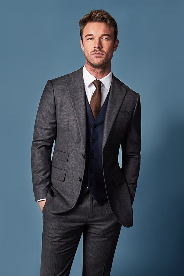 charcoal grey suit with midnight blue waistcoat 3 piece suit edit suits co.