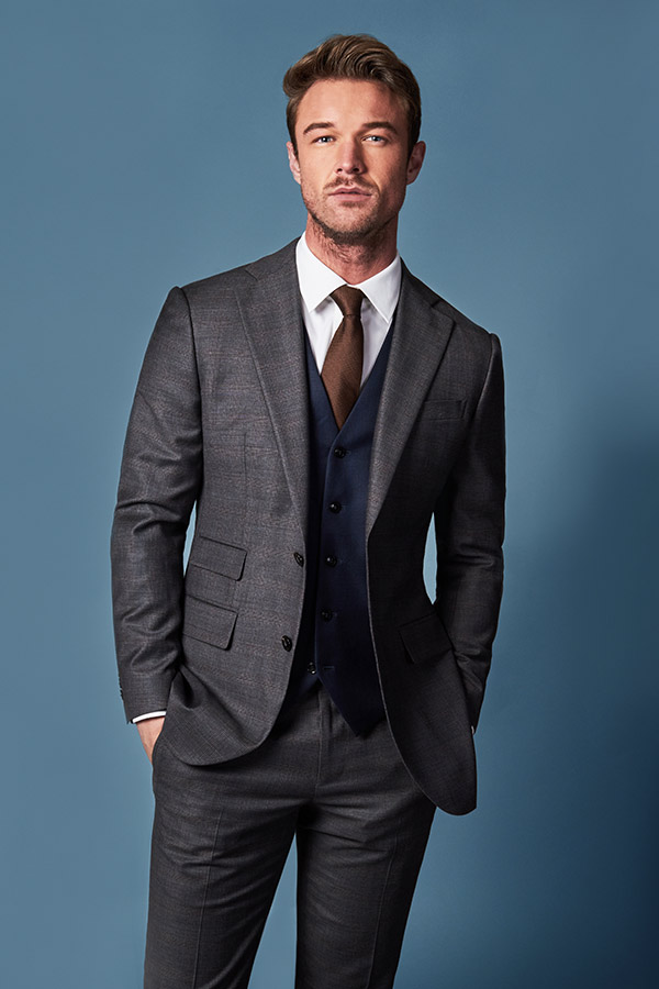 charcoal grey suit with midnight blue waistcoat edit suits co.