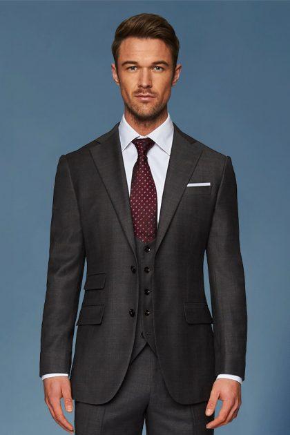 charcoal 3 piece suit