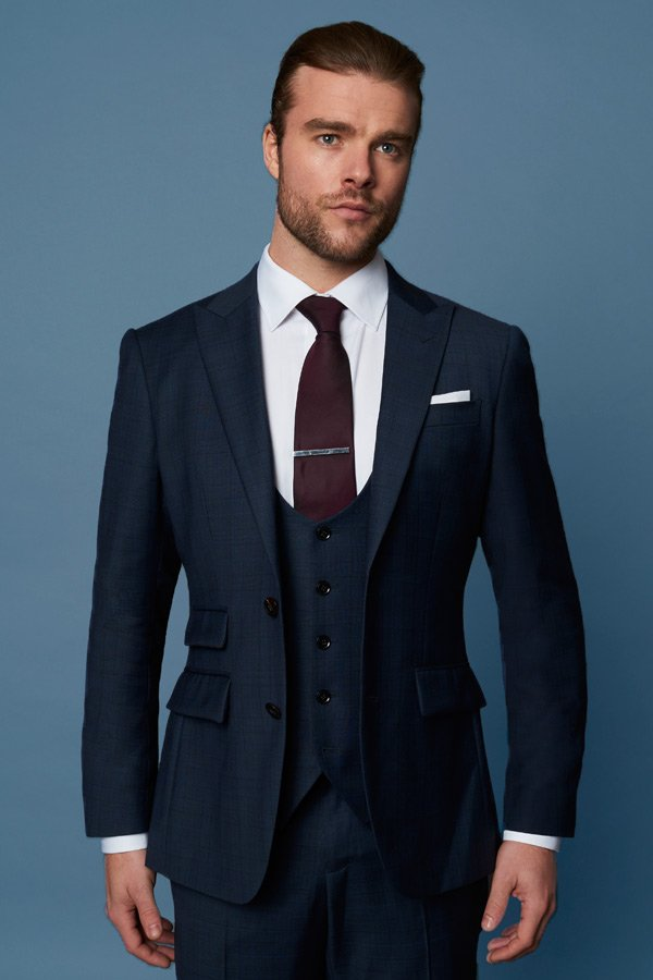 midnight blue 3 piece suit edit suits co.