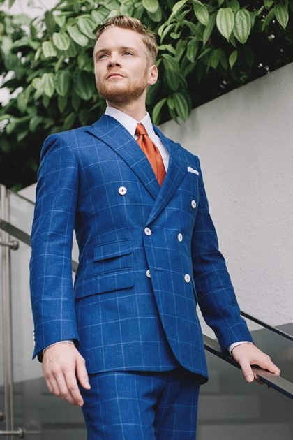 blue double breasted suits Singapore edit suits co