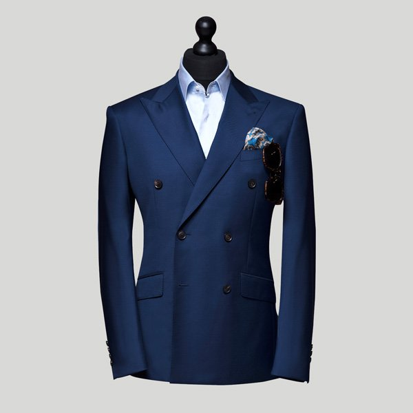 electric blue double breasted suit