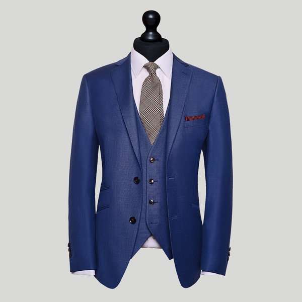 electric blue 3 piece suit in singapore