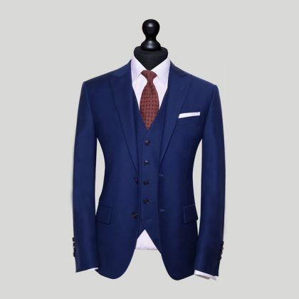 blue three piece wedding suit singapore