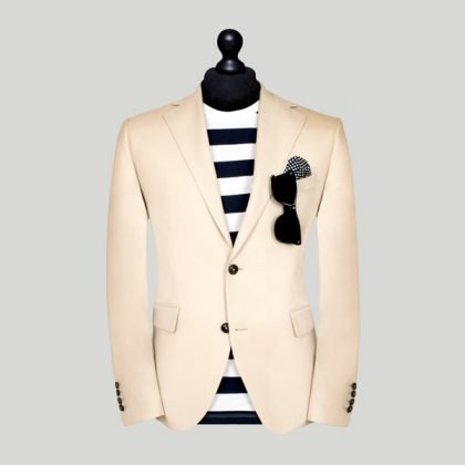 cream slim fit tailored suit