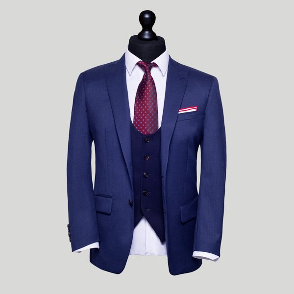 Royal Blue Mens 3 piece suit