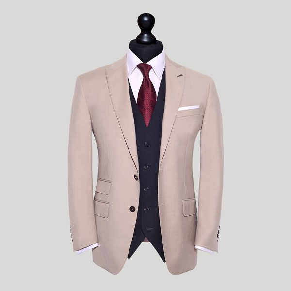 cream suit with charcoal waistcoat edit suits co