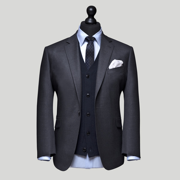 grey jacket with blue cardigan 3 piece suits edit suits co