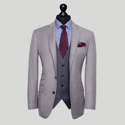 light grey mens 3 piece suit