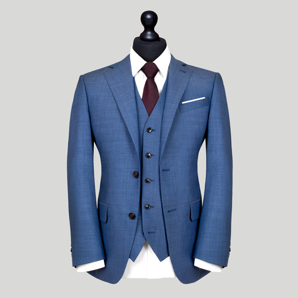 steel blue 3 piece suit edit suits co