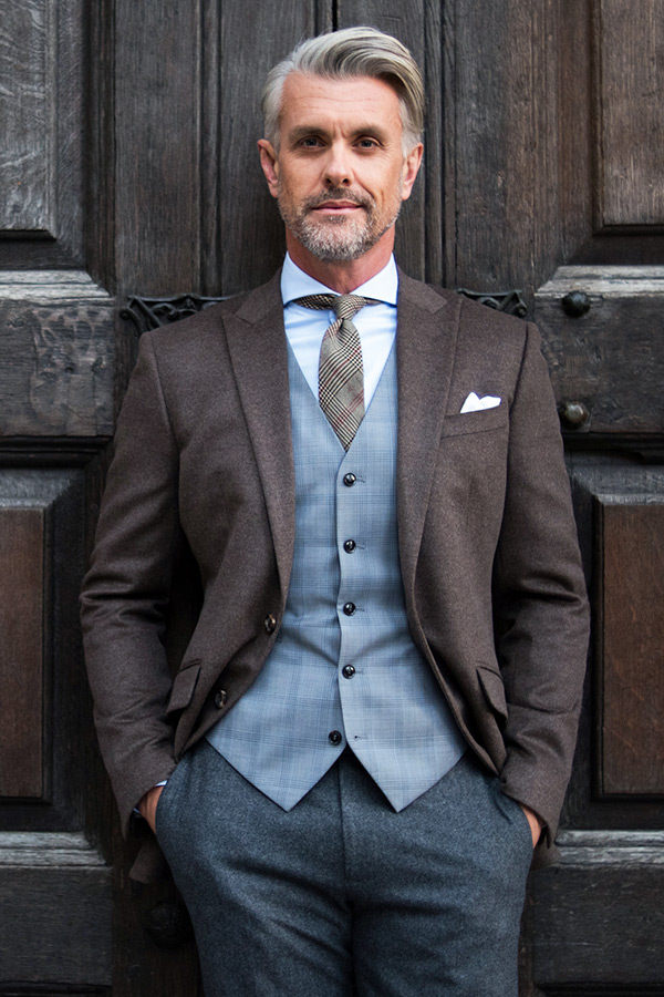brown flannel jacket with grey waistcoat 3 piece suits edit suits co
