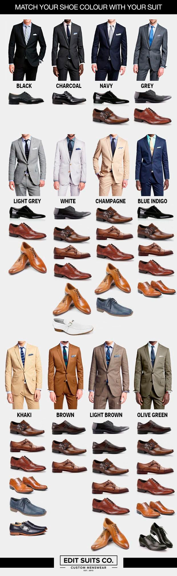 How to choose the perfect pair of shoes for every colour of suit