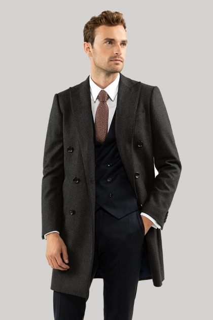 mens tailored overcoat