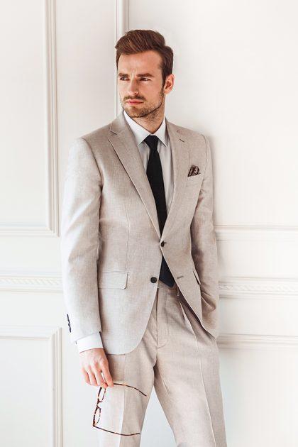 light cream wedding suit men