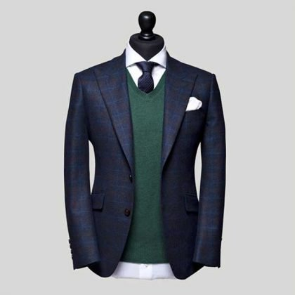 Bespoke Suits with Green Shirt