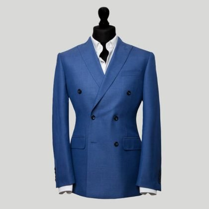 Smart Blue Double Breasted Suit London
