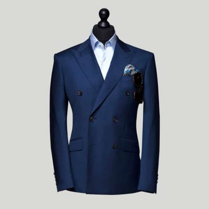 Navy Blue Double Breasted Suits