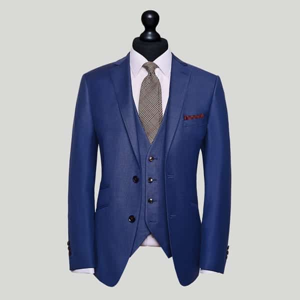Blue Tailored 3 Piece Suit London