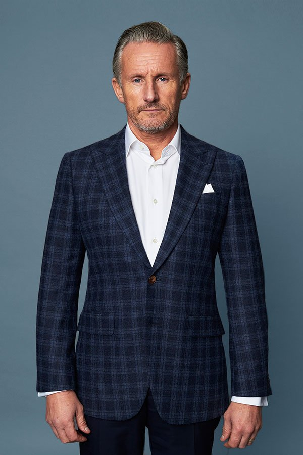 Blue and Black Tailored Casual Suits