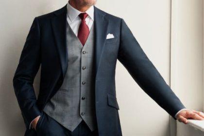 formal waistcoat suit