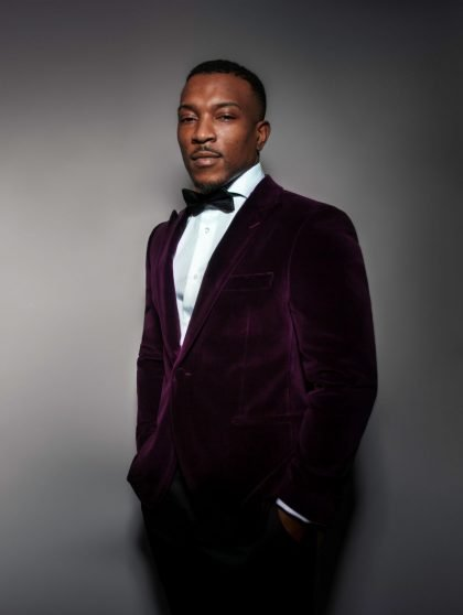 velvet suit on ashley walters